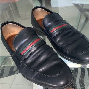 Men's Black Calf Leather Gucci slip on Loafer